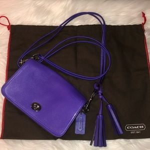 Coach Legacy Penny Purple Leather Crossbody